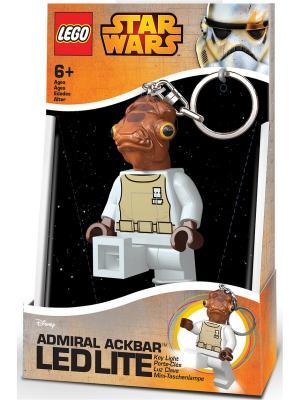 Брелок-фонарик для ключей LEGO Star Wars (Звёздные Войны) - Admiral Ackbar (Адмирал Акбар). Цвет: коричневый, бежевый, белый