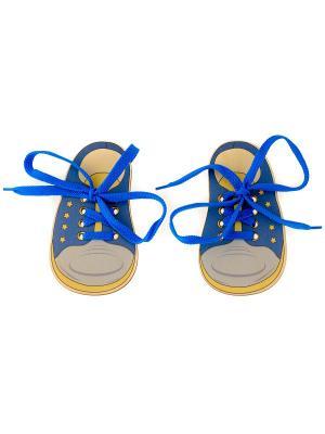 Шнуровка БОТИНКИ МОРСКИЕ (2 ботинка со шнурками) АНДАНТЕ. Цвет: голубой, желтый, красный