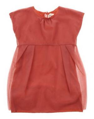 Платье DOUUOD. Цвет: ржаво-коричневый