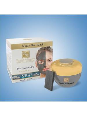 Маска для лица грязевая интенсивная  с адсорбирующим камнем, 50мл Health & Beauty. Цвет: серый