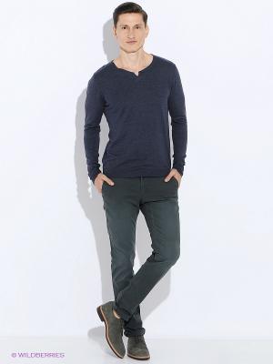 Пуловер Oodji. Цвет: синий