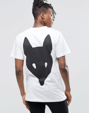 Long Clothing Футболка Fox. Цвет: белый