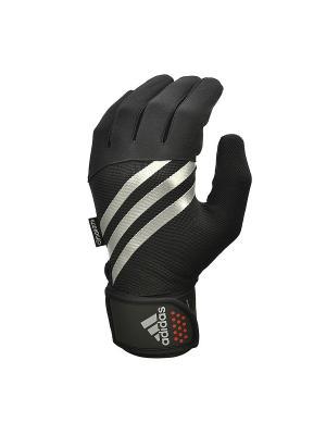 Тренировочные перчатки Adidas утепленные размер M. Цвет: черный