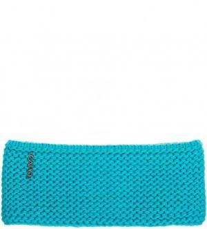 Синяя шапка повязка из шерсти и полиакрила Capo. Цвет: бирюзовый