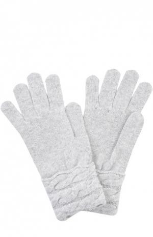 Вязаные перчатки из кашемира Kashja` Cashmere. Цвет: светло-серый