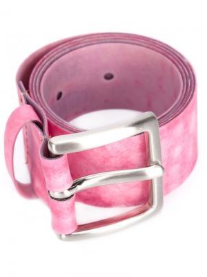 Классический ремень Luisa Cevese Riedizioni. Цвет: розовый и фиолетовый