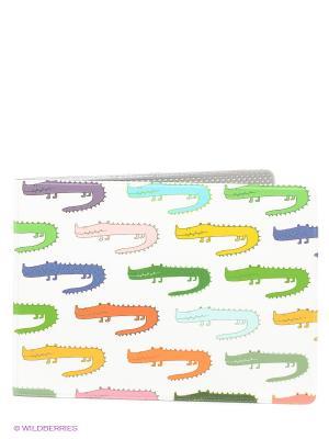 Обложка для студенческого Цветные крокодилы Mitya Veselkov. Цвет: белый, синий, зеленый, красный