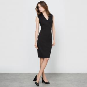 Платье облегающее 3 отверстия La Redoute Collections. Цвет: темно-синий,черный