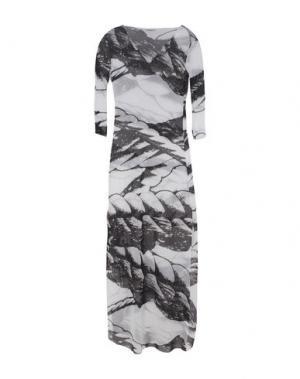Длинное платье VANDA CATUCCI. Цвет: белый