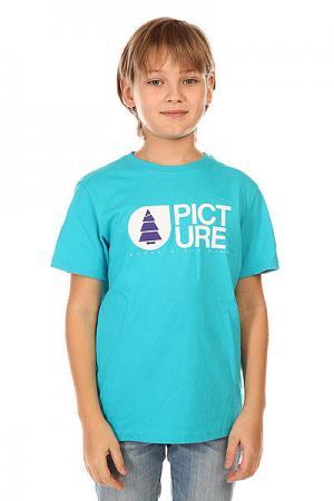 Футболка детская  Basement Light Blue Picture Organic. Цвет: голубой
