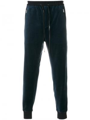 Спортивные брюки с поясом со шнурком 3.1 Phillip Lim. Цвет: синий