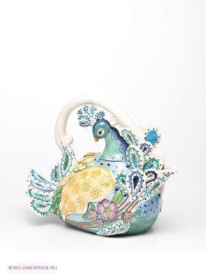 Заварочный чайник Павлин Blue Sky. Цвет: зеленый, желтый