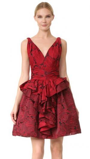 Коктейльное платье Rose Marchesa. Цвет: оранжевый