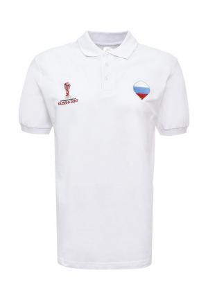 Поло FIFA Confederations Cup Russia 2017. Цвет: белый