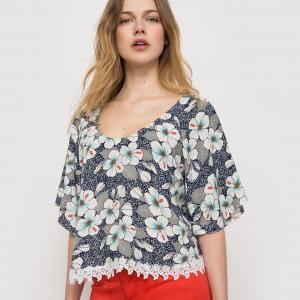 Блузка с рисунком MOLLY BRACKEN. Цвет: экрю/разноцветный рисунок