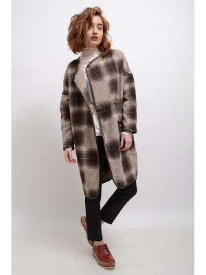 Пальто Жасмин-2 LINO RUSSO. Цвет: темно-коричневый