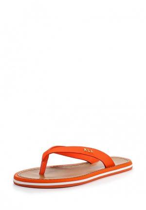 Шлепанцы Lauren Ralph. Цвет: оранжевый