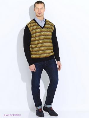 Пуловер MAER. Цвет: желтый