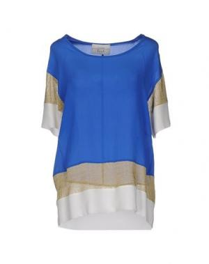Блузка ELLA LUNA. Цвет: синий