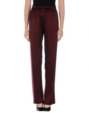 Повседневные брюки RE.SET. Цвет: баклажанный