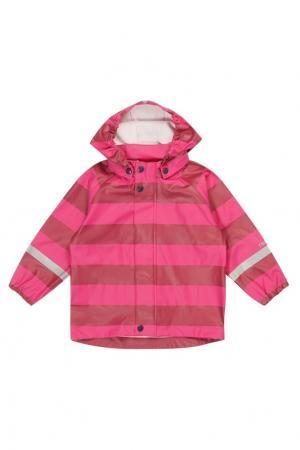 Розовый дождевик в полоску Reima. Цвет: розовый