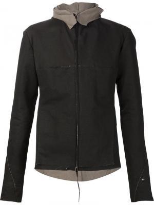 Куртка на молнии с капюшоном Ma+. Цвет: серый