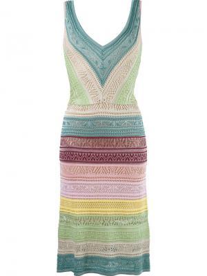 Striped knit dress Cecilia Prado. Цвет: многоцветный