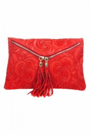 Клатч Lisa minardi. Цвет: красный