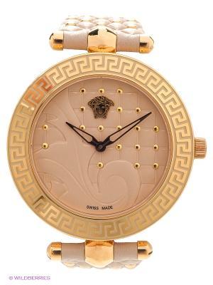 Часы Versace. Цвет: бежевый, золотистый