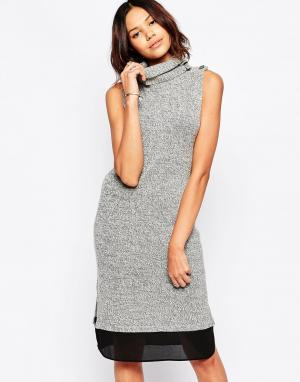 Greylin Платье-джемпер с воротом-водолазкой Nami. Цвет: серый