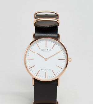 Reclaimed Vintage Часы с черным кожаным ремешком 36 мм Inspired эксклю. Цвет: черный