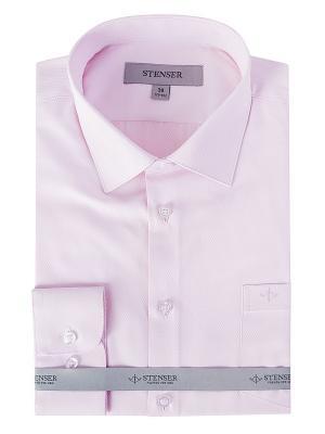 Сорочка STENSER. Цвет: бледно-розовый