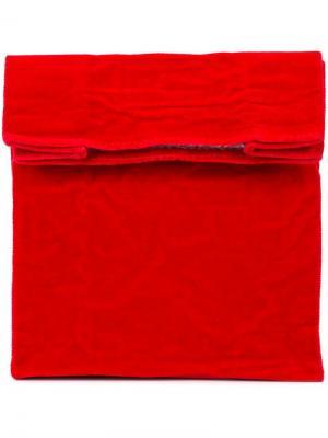 Клатч Lunch среднего размера Zilla. Цвет: красный