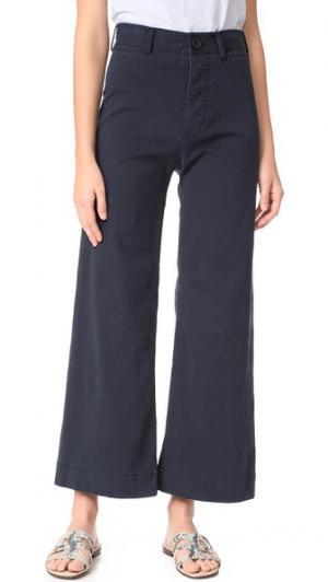 Широкие брюки Ryan с высокой талией Emerson Thorpe. Цвет: хаки