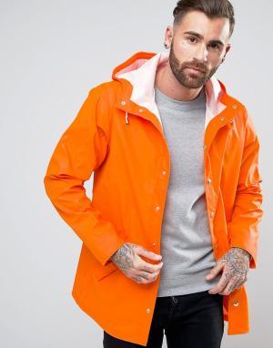 ASOS Водонепроницаемый дождевик оранжевого цвета. Цвет: оранжевый