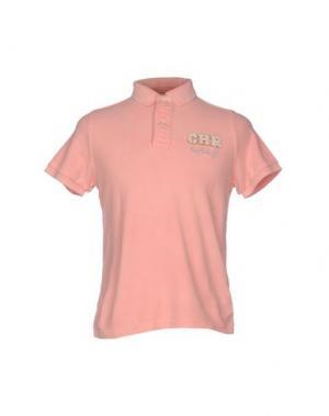 Поло CHARAPA. Цвет: лососево-розовый