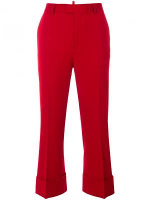 Классические прямые брюки Dsquared2. Цвет: красный