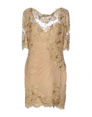 Короткое платье ZUHAIR MURAD. Цвет: песочный