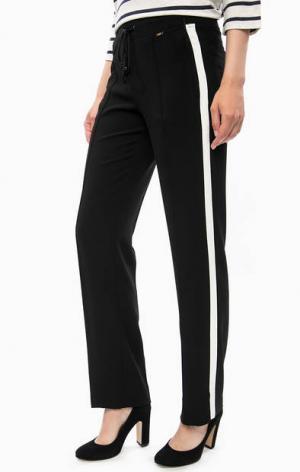 Черные зауженные брюки с карманами Cinque. Цвет: черный