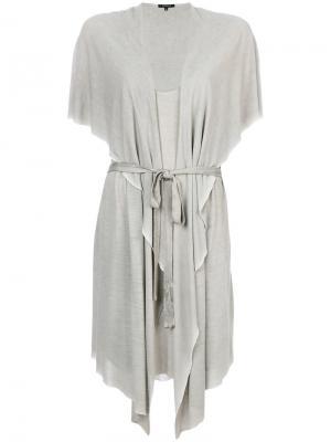 Платье с поясом Unconditional. Цвет: телесный