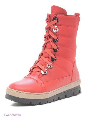Ботинки Betsy. Цвет: красный