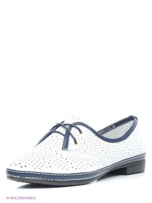 Туфли EVITA. Цвет: белый, синий