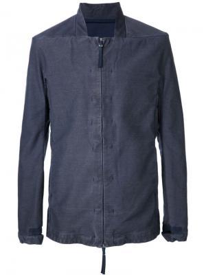 Легкая куртка на молнии Boris Bidjan Saberi. Цвет: синий