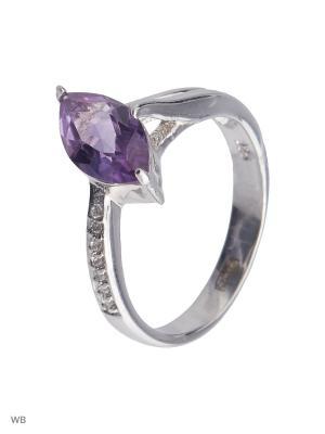 Кольцо Митра Ювелир. Цвет: фиолетовый, серебристый