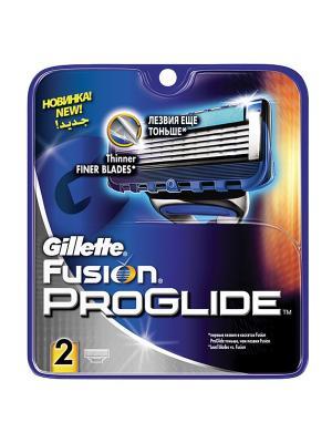 Сменные кассеты для бритья FUSION PROGLIDE, 2 шт. GILLETTE. Цвет: синий