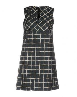 Короткое платье ANTONELLI. Цвет: темно-зеленый