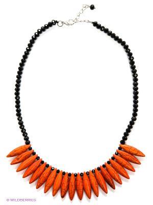 Колье Migura. Цвет: черный, оранжевый