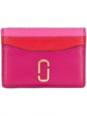 Визитница double J Marc Jacobs. Цвет: розовый и фиолетовый