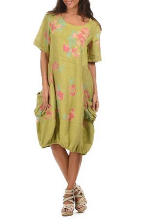 Платье LIN POUR LAUTRE L'AUTRE. Цвет: зеленый