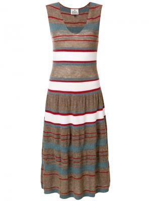 Трикотажное платье без рукавов Vivienne Westwood. Цвет: коричневый